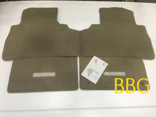 2009-2014 Nissan Murano Beige Tan Carpeted Floor Mats Front & Rear 3 Set OEM NEW