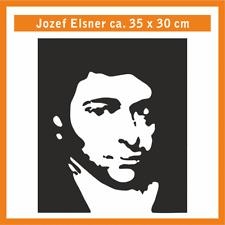 JOZEF ELSNER Wandtatoo, ca. 35 x 30 cm, Hochleistungsfolie mit Montagepapier