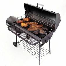 BBQ Pit Charcoal Wood Meat Portable Outdoor Offset Barrel Smoker Grill