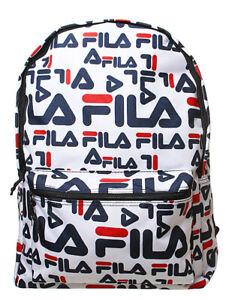 BNWT FILA Riva Peacoat Red And White Backpack Rucksack - School Gym PE Bag