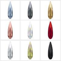 Swarovski 2304 Raindrop Crystal Flatback No-Hotfix nail Rhinestones (Many Color)