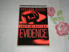 INCRIMINATING EVIDENCE by SHELDON SIEGEL  *Signed*-ARC- -JA-