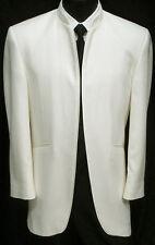 43 R Mens Rare Ivory European DJ Dinner Jacket Mandarin Nehru Collar Tuxedo Coat