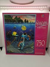 """""""Seascapes"""" Jigsaw Puzzle by Milton Bradley - 750 Pieces - Still Sealed!"""