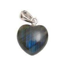 Baby Labradorite Heart Pendant. Natural Genuine Gemstone Stunning Colours