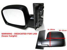 Volkswagen Caddy Van 3//2004-2010 Electric Wing Door Mirror Black Drivers Side