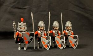Playmobil - Medieval Raven Knight and Men at Arms