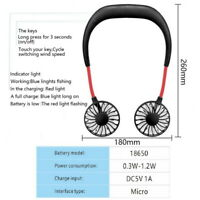 Hände frei-USB/Akku-Tisch-Ventilator Mini Fan Handheld Neck Hanging