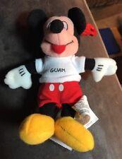 "Disney Guam Mickey 4"" Keychain Beanbag Plush New W/tags RARE"