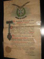 AMAZING GREEK LITHO PAPER SUPREME ORDER OF A H E P A AWARD 1928