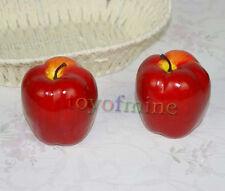 2x Red Delicious légumes fruits qualité mobilier haut de gamme faux artificiel