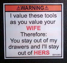 toolbox tool box sticker new decal wife chest tool box funny workshop etc