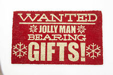 Heaven Sends Wanted Jolly Man Bearing Gifts Father Christmas Novelty Doormat
