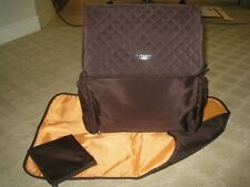 NEW Kecci Frizzi Sling Quilted Brown Diaper bag 3p set Chocolate Baby Shower