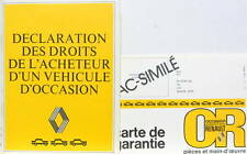 RENAULT OCCASION OR  CATALOGUE AVEC SA CARTE OCCASION OR  DESSINS DE PIEM