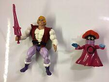 Masters of the Universe Prince Adam With Vest & Orko MOTU Vintage He-Man