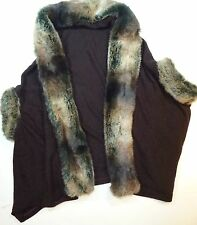 *NWT* MECHY'S WOMENS GIRLS TEENS FAUX FUR WRAP BROWN MEDIUM C100 LP