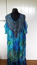 Virtuelle by TS multi coloured  Ladies maxi dress Size 16 RRP$139.95
