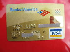 VINTAGE OLD CREDIT CARD BANK of AMERICA CREDIT CARD VISA: OLYMPICS