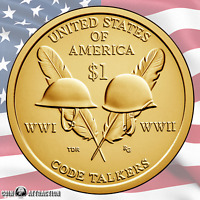 2016 P & D Sacagawea Native American - Code Talkers $1 Coin Set (Uncirculated)