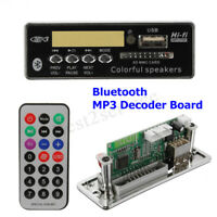 12V Car bluetooth Wireless MP3 Wma Decoder Board Audio Module USB SD TF FM  NEW