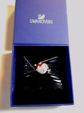 Swarovski signed crystal pave Hello Kitty Santa SANRIO Necklace #1145289 Silver