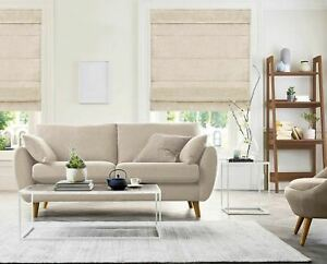 Belgian Flax Cordless Light Filtering Privacy Polyester Roman Shades