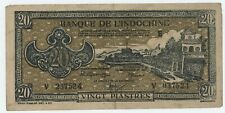 French IndoChina 20 Piastres ND 1942-45 Pick 71 VF Circulated Banknote