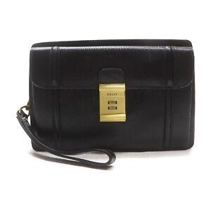 Bally Clutch Bag  Black Leather 2401935