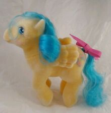 VINTAGE MY LITTLE PONY BOUNCY SO SOFT MINTY FLOCKING ORIGINAL CURL & RIBBON