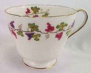 Shelley Wine Grape Tea Cup (NO SAUCER)