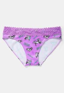 Justice Girls Pattern Lace Trim Seamless Bikini Underwear