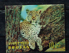 Bhutan Fauna Chita 3D stamp 1969 MNH