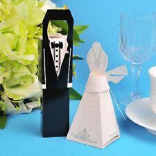 140 Kate Aspen Bride Dress & Groom Tuxedo Wedding Favours Bomboniere Gift Boxes