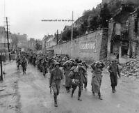 U.S. Soldiers with German Prisoners 8x10 World War II Photo WW2 WWII Picture 245