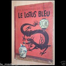 Tintin Le Lotus Bleu Album Hergé B3 Casterman 1949 Ancienne BD Vintage