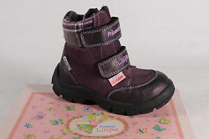 Lillifee Girl Boots Ankle Boots Leather Tex Violet New