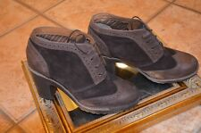 SPERRY EMORY WINGTIP ANKLE BOOTIE LACE UP 9725714 8 M SUEDE LEATHER LUG HEEL NEW