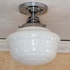 659b SUBWAY TILE Vintage Antique art deco Ceiling Light Fixture Fixture bath