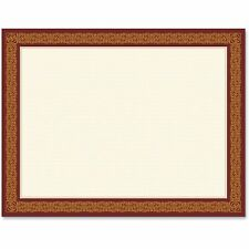 Geographics Award Certificates Burgundy/Gold 8 1/2 x 11 Gold Border 15/Pack
