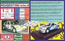 ANEXO DECAL 1/43 PEUGEOT 205 TURBO 16 B.SABY R.MONTECARLO 1985 (01)