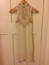 AU 8 Womens 1930s Vintage Gatsby Sequin Beaded Dress