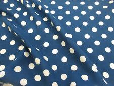 blaugrün & weiß pollkadot, Punkte 100% Viskose sommer-aufdruck Kleid Stoff