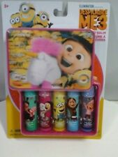 Despicable Me 3 Minion 5 Fruity Flavors 3D Storage Case Chap Stick Lip Balm Set