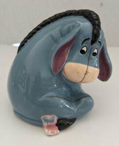Disney Vintage Ceramic Hand Painted Eeyore Toothbrush Pencil Pen Holder