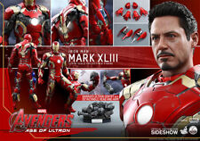 Hot Toys QS005 Avengers Age of Ultron Iron Man Mk 43 1/4 Scale Figure In Stock