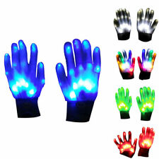 Paire Gants Lumineux LED Light Glove Concert Fête Festival Disco KTV Halloween