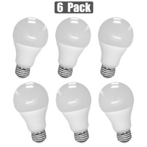 6x 12W LED Light Bulb Replacement Lamp A19 Warm Soft White 3000K 100W Equivalent