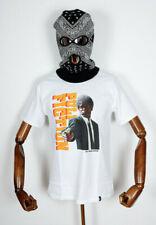 Huf Worldwide Skateboard T-Shirt Tee Pulp Fiction Ezekiel White in S
