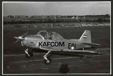 Fokker S11 Instructor E1 & Pilot on the Runway. 6.75 inch x 4.5 inch Photograph